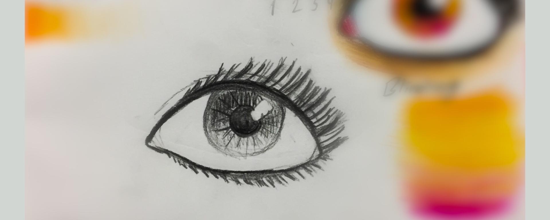 Drawing of an eye by That Art Teacher.