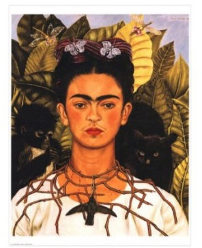 Frida Kahlo, Self-Portrait with Thorn Necklace