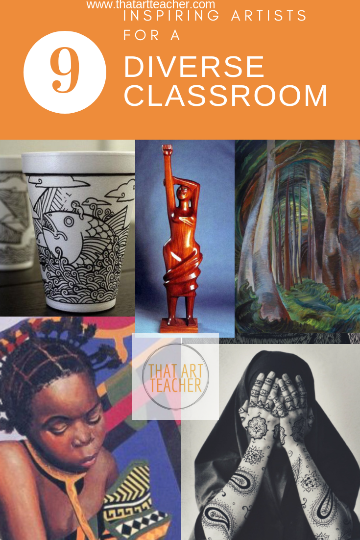 Nine inspiring artist to make your teaching more diverse. My top list of artists ranging from sculpture, photography, illustration and landscape painting. Help your students see a broader perspective in your art classes.