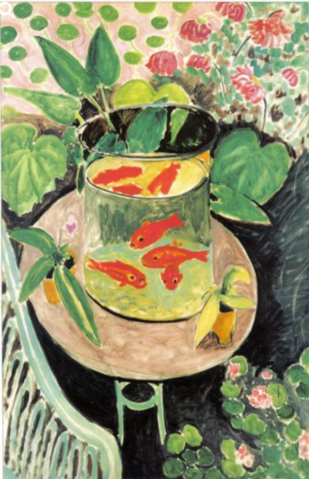 This Matisse painting is so vibrant and complex. The gold fish make me want to paint fish all day long.