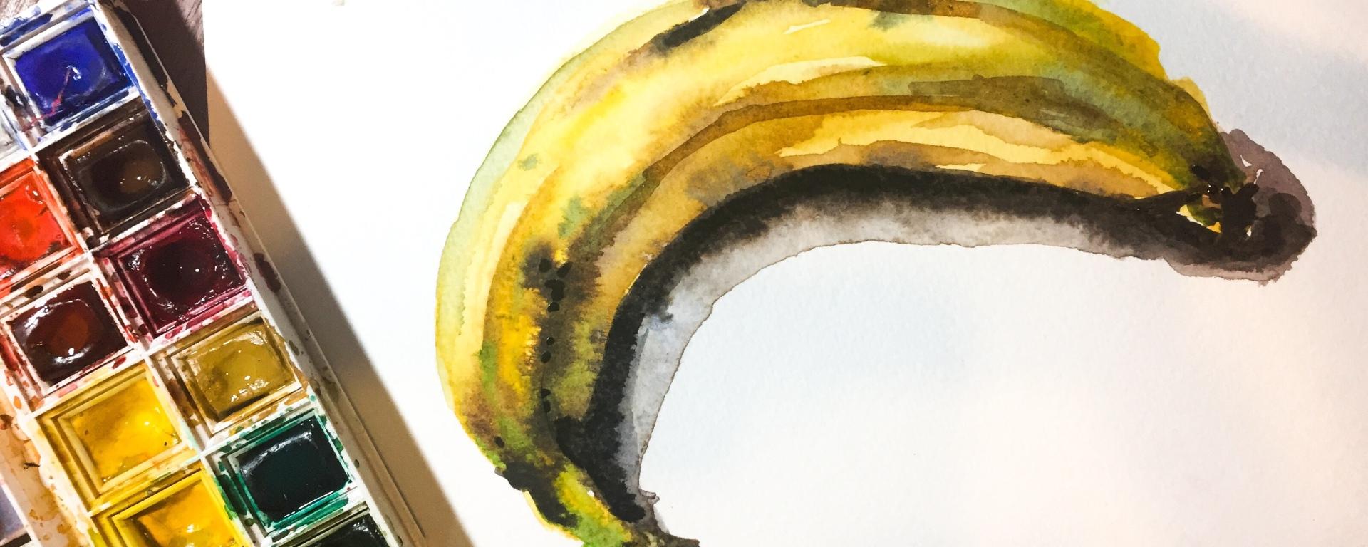 Go bananas with watercolor, it's surprisingly simple!