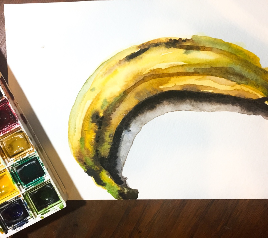 Go bananas with watercolor, it's surprisingly simple!