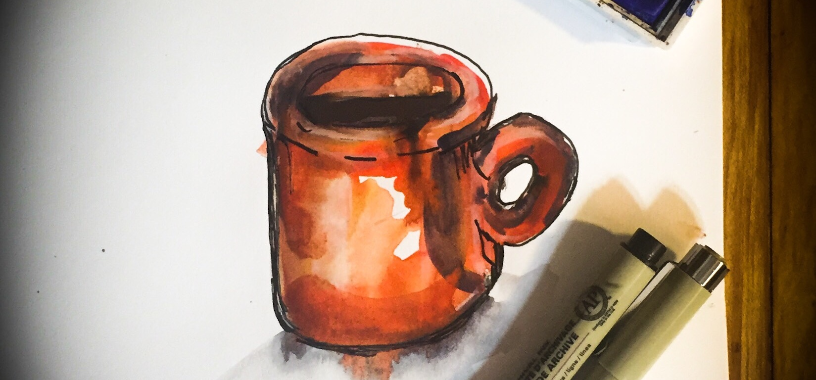 Watercolor time lapse painting