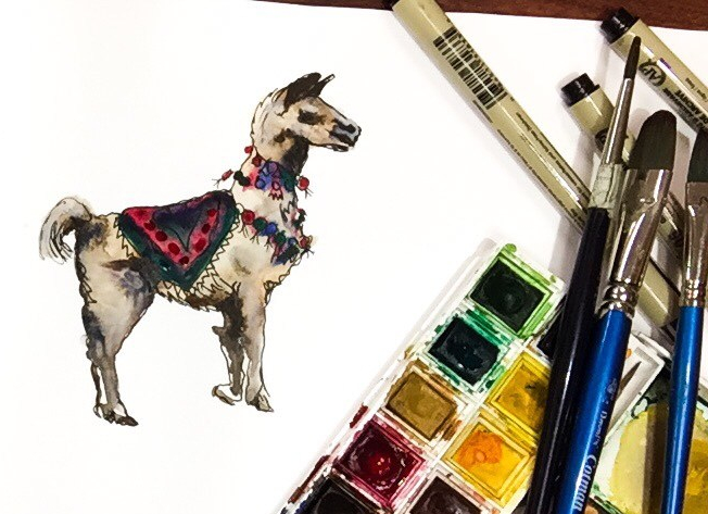 Learn how to paint a llama with this watercolor time lapse painting!!