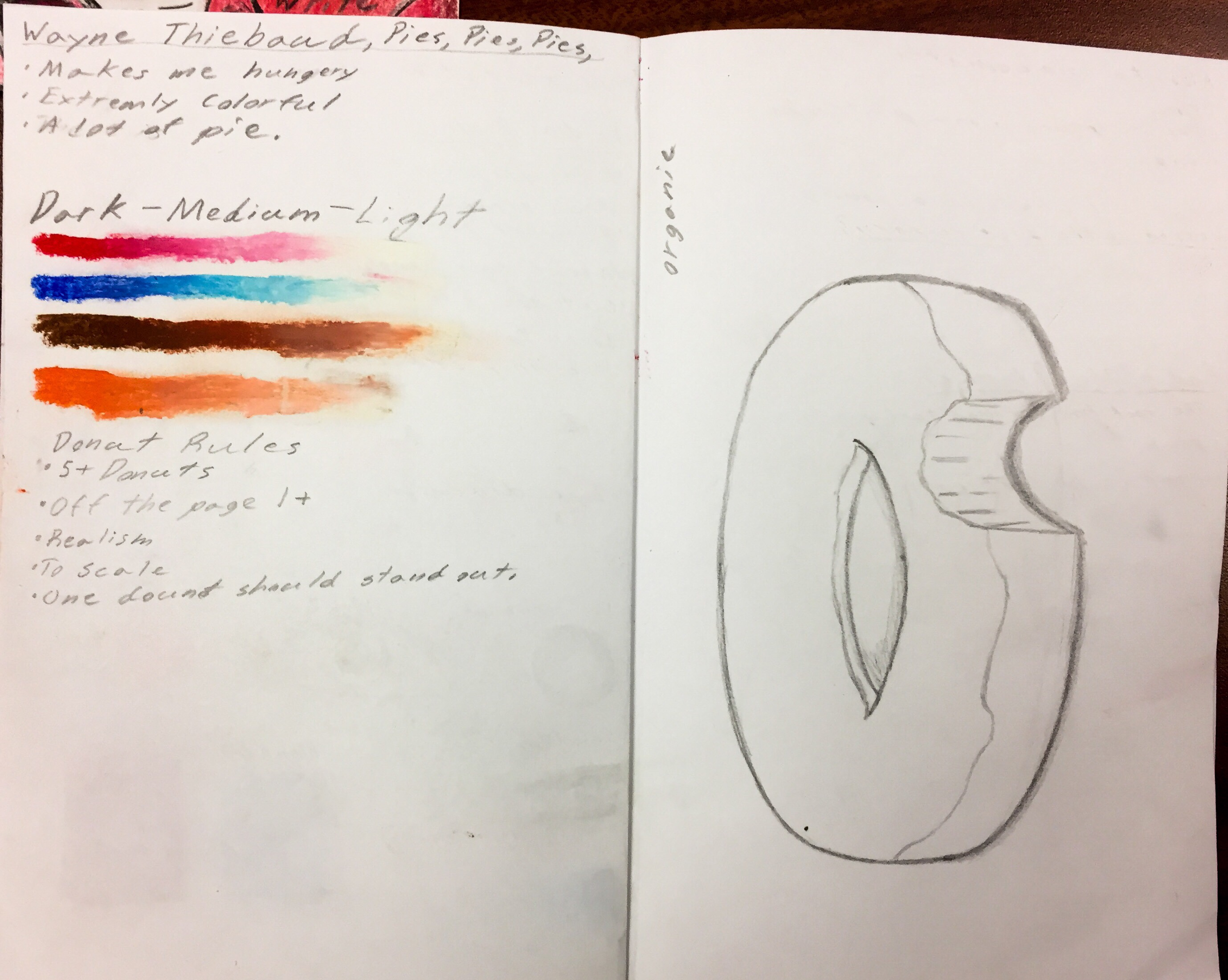 Donut Artwork: Student Sketchbook