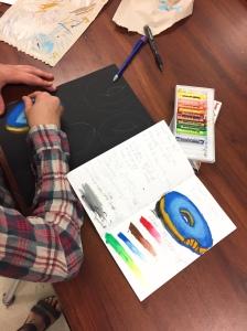 Donut Artwork: Student Sketchbook