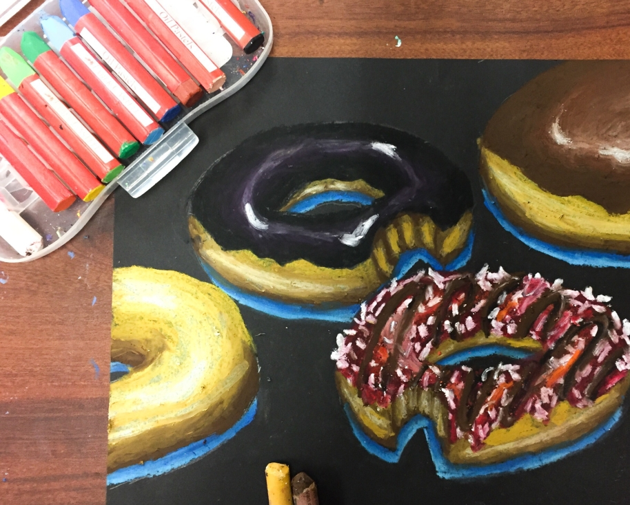 Drawing Tutorial: Plain Donut with Oil Pastels. For the people who appreciate the simple things in life.