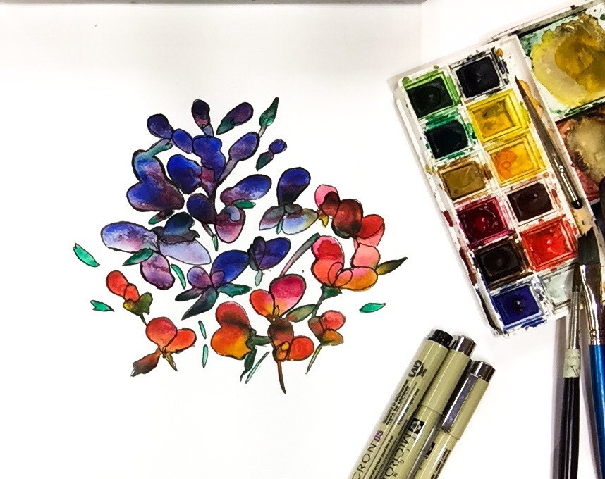 Learn how to turn blobs of paint into a botanical painting in less than five minutes!
