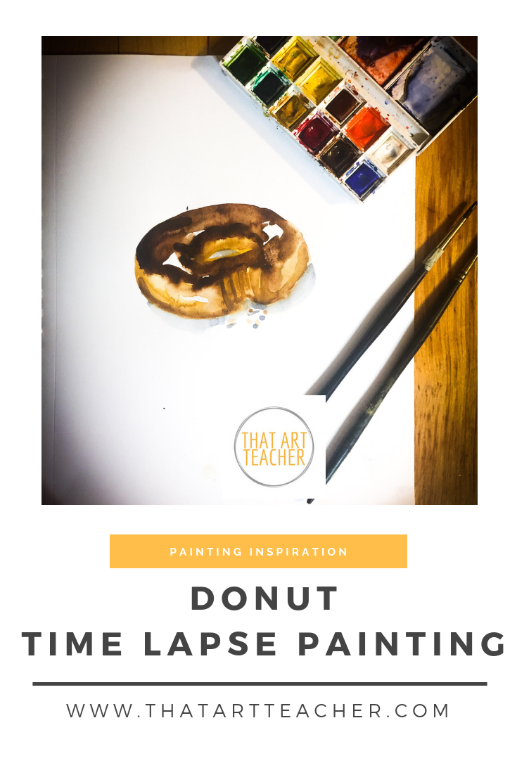 Time lapse watercolor painting of one of life's most delicious treats.