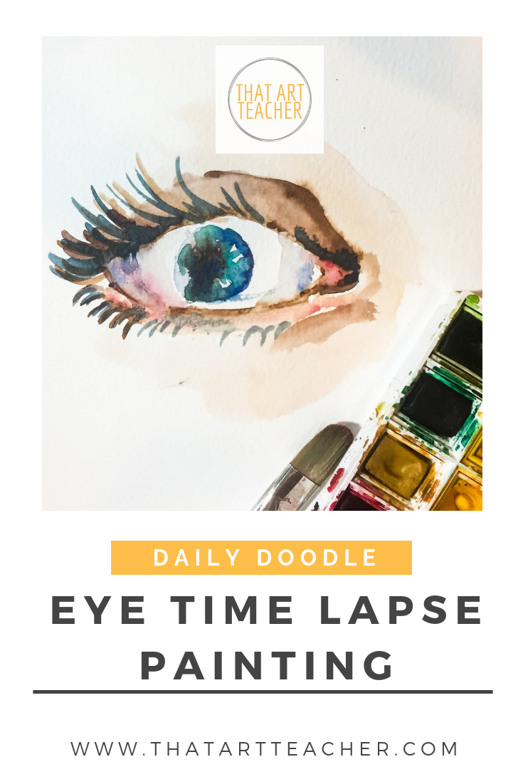 Learn how to paint an eye using watercolor!