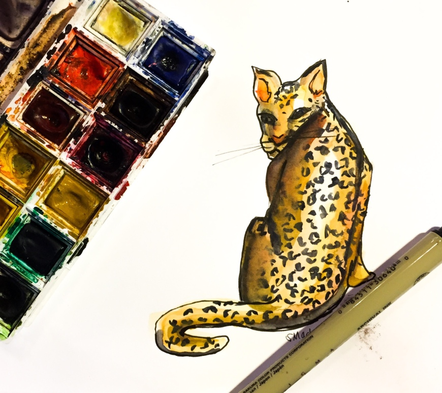 Learn how to paint a jaguar using simple colors and shapes with this watercolor time lapse tutorial!