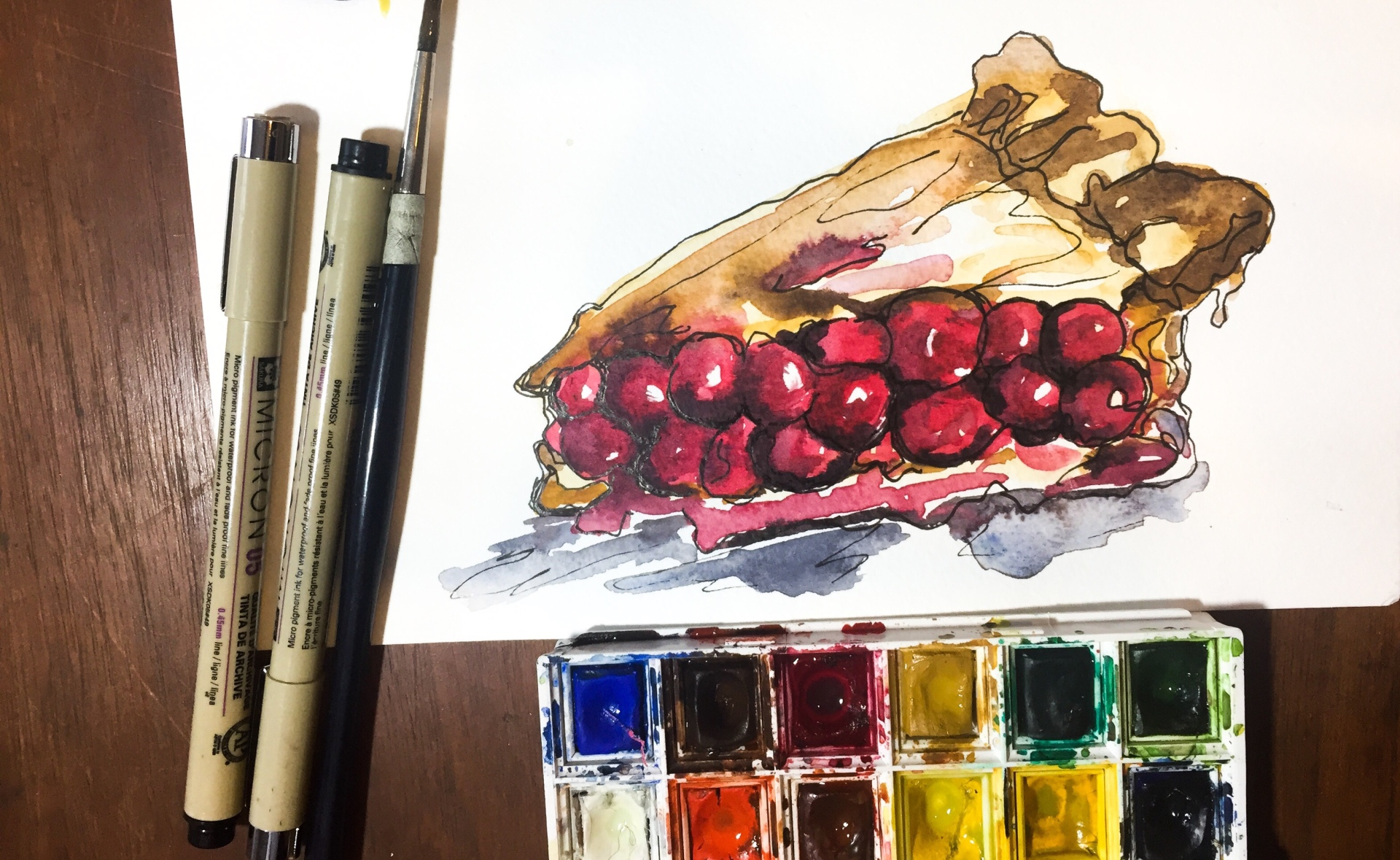 Learn how to use watercolor to make