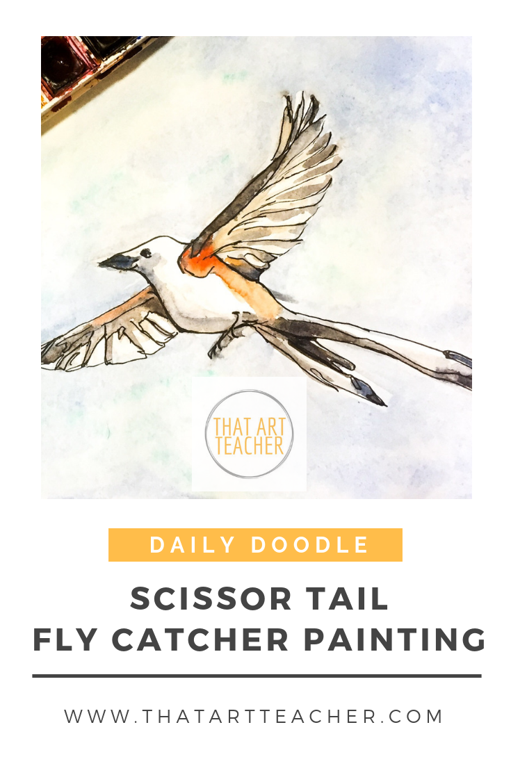 Learn how to paint the Oklahoma state bird, the scissor tail fly catcher!