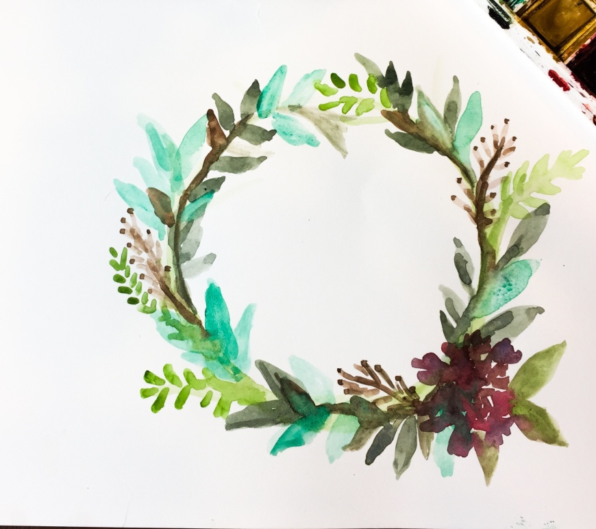 Learn how to paint a wreath with this watercolor time lapse tutorial!