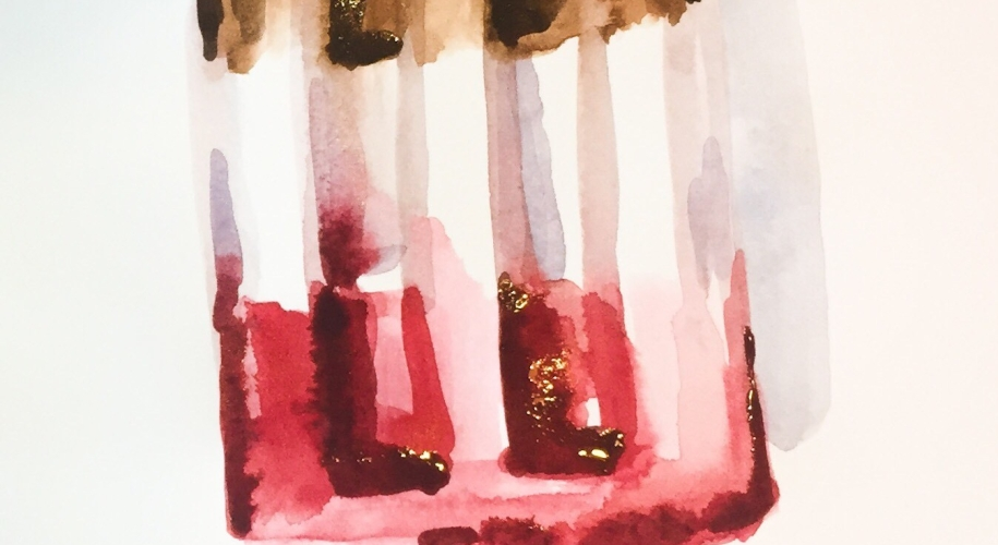 This time lapse watercolor popsicle painting uses a value range from three main colors and flavors.