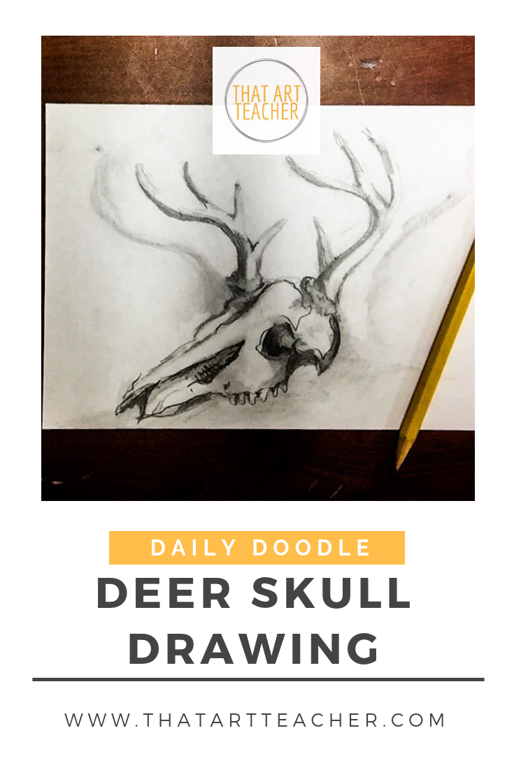 Learn how to draw and shade a deer skull using just a regular pencil with this time lapse tutorial.