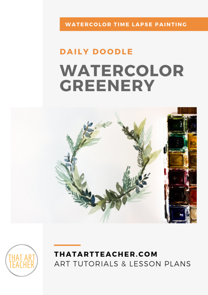 Learn how to greenery using simple colors and shapes with this watercolor time lapse tutorial!