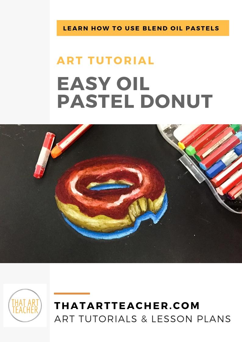 Easy Oil Pastel Donut Drawing That Art Teacher