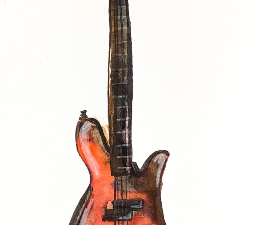 Daily Doodle | Watercolor Bass Painting