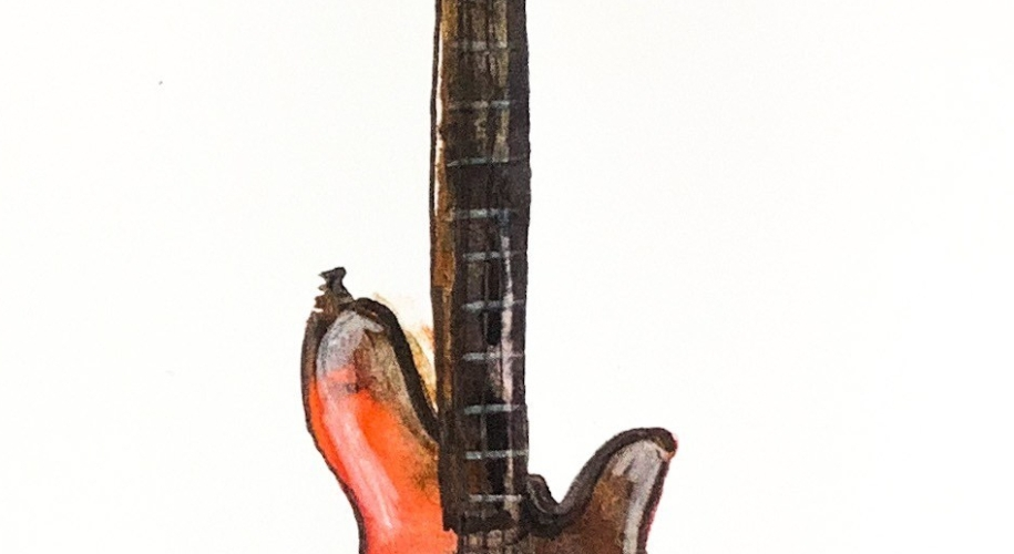 Daily Doodle   Watercolor Bass Painting