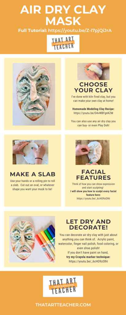 Homemade Air Dry Clay Mask